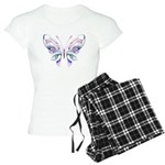 Ornate Butterfly Tattoo Women's Light Pajamas