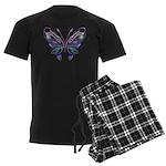 Ornate Butterfly Tattoo Men's Dark Pajamas