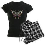 Retro Mod Butterfly Style B6 Women's Dark Pajamas