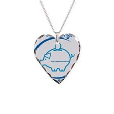 Pay Your Bills Necklace Heart Charm