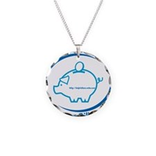 Pay Your Bills Necklace Circle Charm