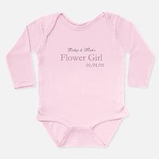 Custom Flower Girl Long Sleeve Infant Bodysuit
