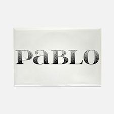 Pablo Carved Metal Rectangle Magnet