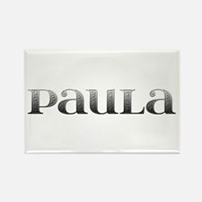 Paula Carved Metal Rectangle Magnet