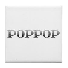 PopPop Carved Metal Tile Coaster