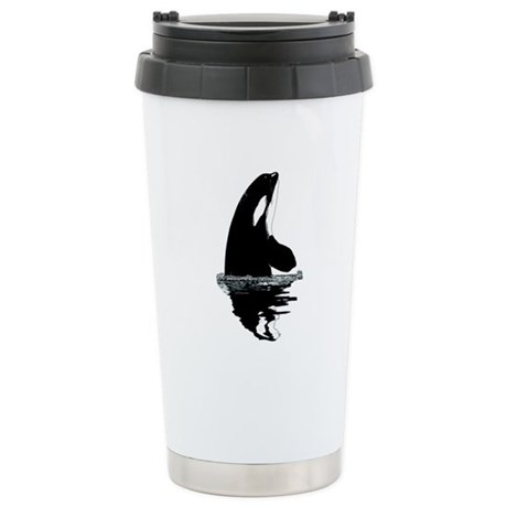 Orca Killer Whale Stainless Steel Travel Mug