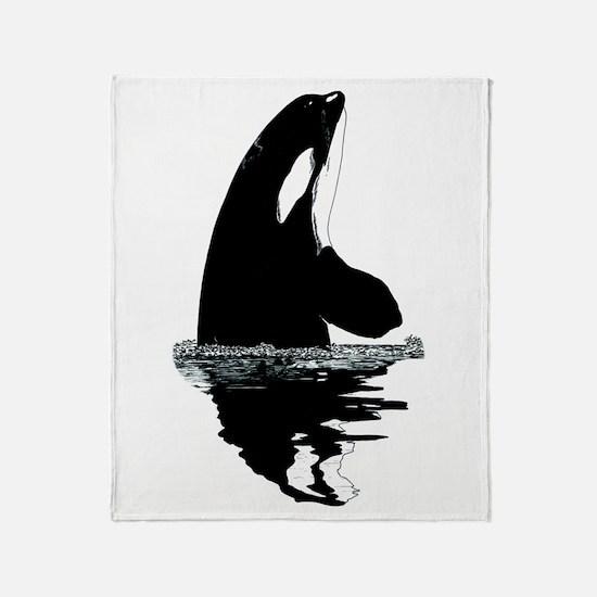 Orca Killer Whale Throw Blanket