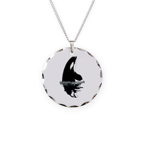 Orca Killer Whale Necklace Circle Charm
