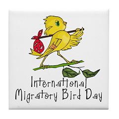 Celebrate Migratory Birds Tile Coaster