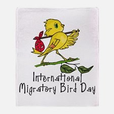 Celebrate Migratory Birds Throw Blanket