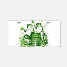 Drunk Frogs Aluminum License Plate