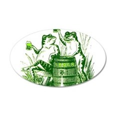 Drunk Frogs 22x14 Oval Wall Peel