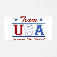 TEAM USA United We Stand Aluminum License Plate