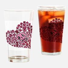 SKULL HEART VINTAGE Drinking Glass