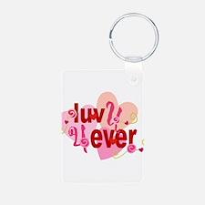Love U 4 Ever! Keychains