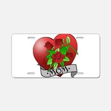 Mom Tattoo Mothers Day Aluminum License Plate