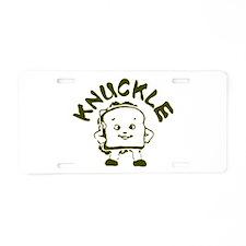 Knuckle Sandwich! Aluminum License Plate