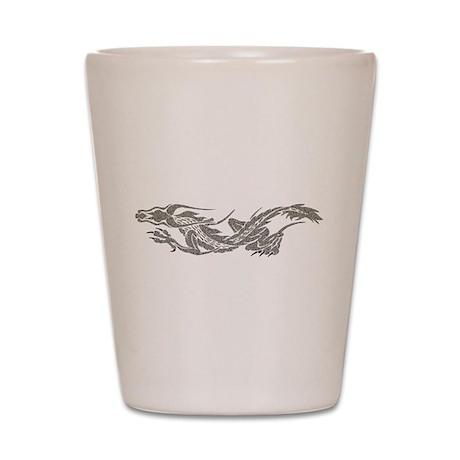 Silver Dragon Shot Glass