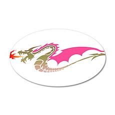 Pink Dragon 22x14 Oval Wall Peel