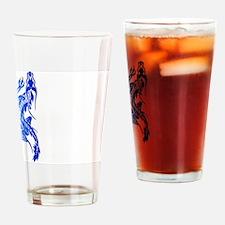Blue Climbing Dragon Drinking Glass
