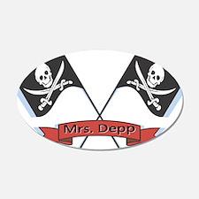 Mrs. Depp 22x14 Oval Wall Peel