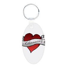 Channing Tattoo Heart Keychains