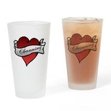Channing Tattoo Heart Drinking Glass