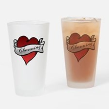 Channing Tattoo Heart Drinking Glass