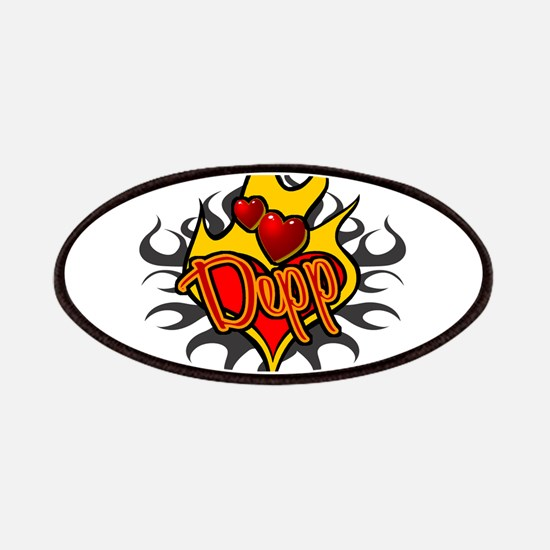 Depp Heart Flame Tattoo Patches
