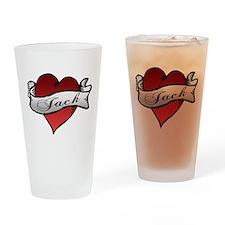 Jack Tattoo Heart Drinking Glass