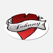 Johnny Tattoo Heart 22x14 Oval Wall Peel