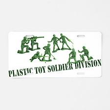 Plastic Toy Soldier Division Aluminum License Plat