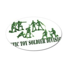 Plastic Toy Soldier Division 22x14 Oval Wall Peel