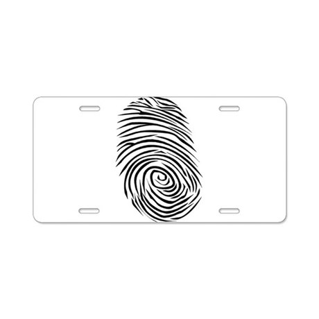 Fingerprint Smudge Dirt Aluminum License Plate by Magnetudes