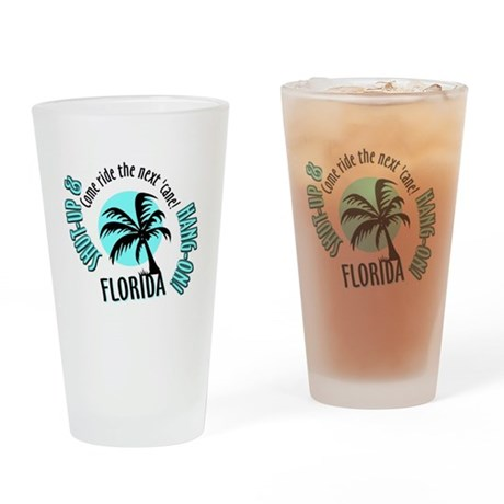 FLORIDA Come Ride the Hurrica Drinking Glass