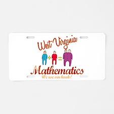West Virginia Mathematics Aluminum License Plate