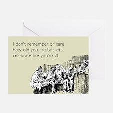 Celebrate Like You're 21 Greeting Card