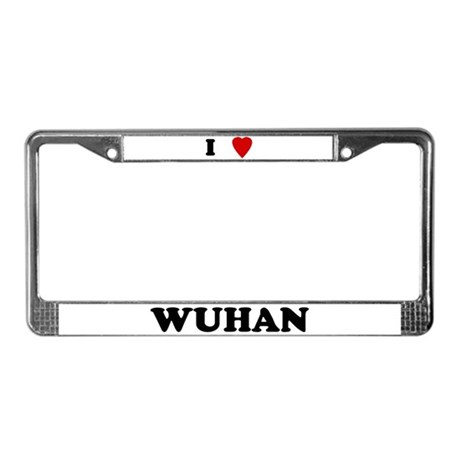 I Love Wuhan License Plate Frame