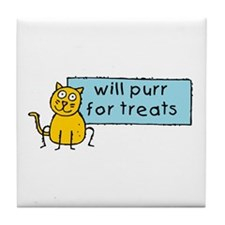 Cute Cartoon Cat Tile Coaster