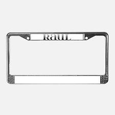 Raul Carved Metal License Plate Frame