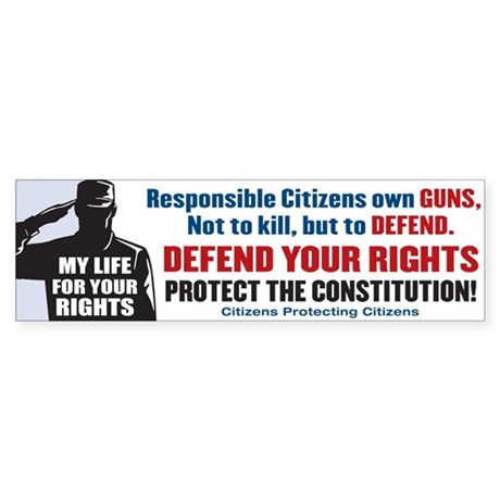Defend Your Rights Bumper Sticker
