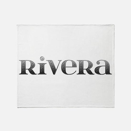 Rivera Carved Metal Throw Blanket