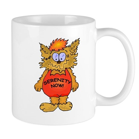 Serenity Now Stressed Out Cat Mug