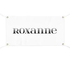 Roxanne Carved Metal Banner
