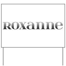 Roxanne Carved Metal Yard Sign