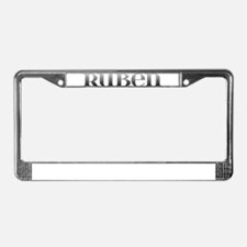 Ruben Carved Metal License Plate Frame