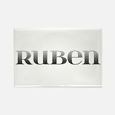 Ruben Carved Metal Rectangle Magnet