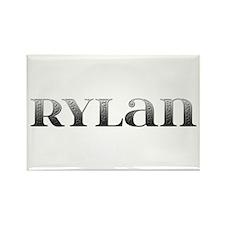 Rylan Carved Metal Rectangle Magnet