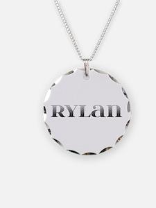 Rylan Carved Metal Necklace