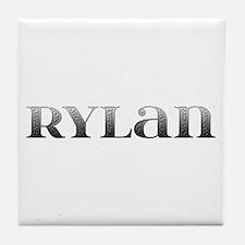Rylan Carved Metal Tile Coaster